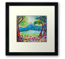 Evening on Long Pond Framed Print