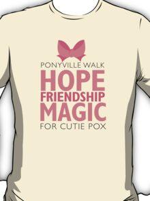 Ponyville Walk for Cutie Pox T-Shirt