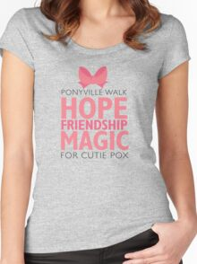 Ponyville Walk for Cutie Pox Women's Fitted Scoop T-Shirt