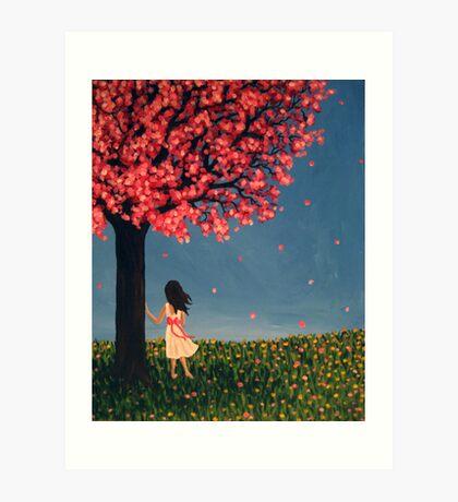Under the Cherry Tree Art Print