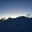 Snow Bank Sunset in Charlottetown Prince Edward Island by Nadine Staaf