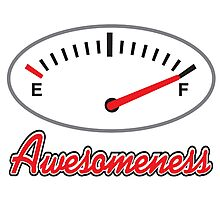 Awesomeness Gauge Photographic Print