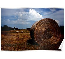 Fall Hay Bale Poster