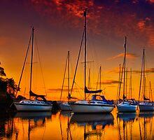 Cramond Harbour Sunset by Don Alexander Lumsden (Echo7)