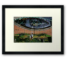 out of the iris of water Framed Print