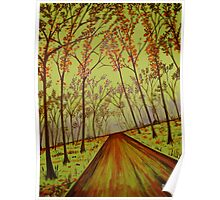 """""""Country Road Forest"""" Poster"""