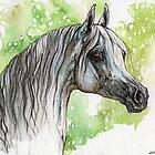Arabian horse painting by tarantella