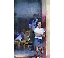 Restaurant, Trinidad, Cuba Photographic Print