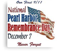 Pearl Harbor Day Memorial Metal Print