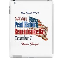 Pearl Harbor Day Memorial iPad Case/Skin