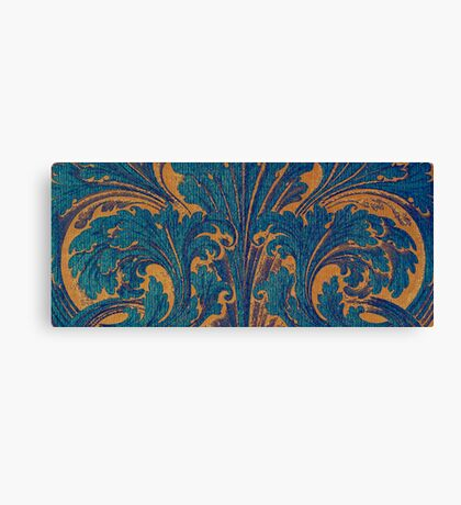 Woodcut Scroll Canvas Print