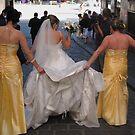 Hosier Lane almost gridlocked by bridal parties. by geof
