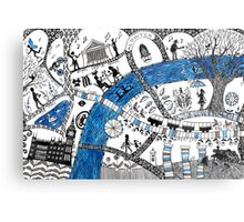 Along the river Thames Metal Print