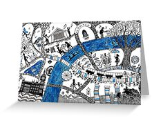 Along the river Thames Greeting Card
