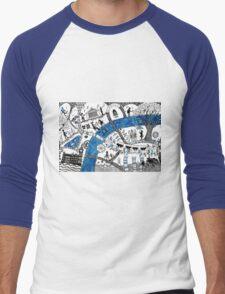 Along the river Thames Men's Baseball ¾ T-Shirt