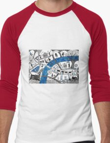 Along the river Thames Men's Baseball ¾ T-Shirt