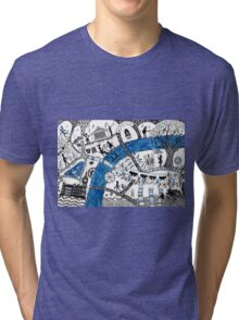Along the river Thames Tri-blend T-Shirt