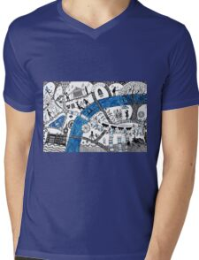 Along the river Thames Mens V-Neck T-Shirt