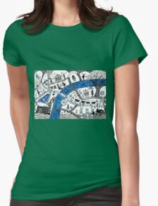 Along the river Thames Womens Fitted T-Shirt