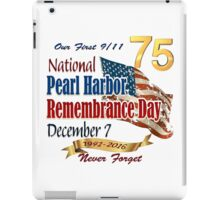 75th Anniversary of Pearl Harbor iPad Case/Skin