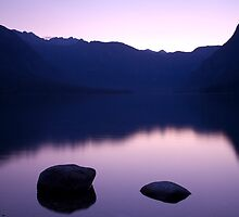 Lake Bohinj sunset by Ian Middleton