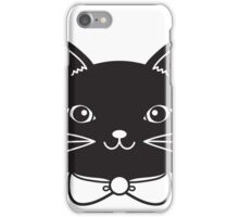 Cool Black Kitty Cat Face iPhone Case/Skin