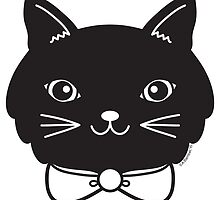 Cool Black Kitty Cat Face by abamber