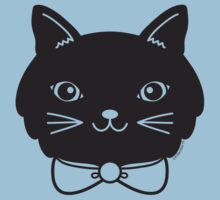 Cool Black Kitty Cat Face Baby Tee