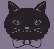 Cool Black Kitty Cat Face Kids Tee