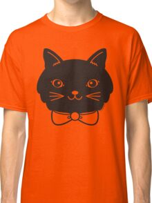 Cool Black Kitty Cat Face Classic T-Shirt