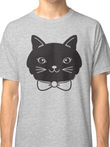 Cool Black Kitty Cat Face Classic T-Shirt