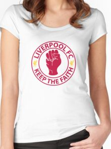 Liverpool FC - Keep The Faith Women's Fitted Scoop T-Shirt