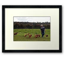 Come on you at the back! Keep up! Framed Print