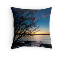 Coles Bay Sunset Throw Pillow
