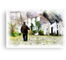 Gold Hill, Shaftesbury, Dorset Canvas Print