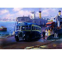 Royal Blue Bristol at Torpoint ferry. Photographic Print