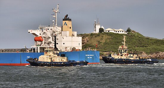 FORTUNE MIRACLE CARGO SHIP - Newcastle Harbour NSW Australia by Phil Woodman