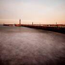Whitby - slow shutter seascape by PaulBradley
