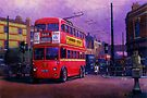 London trolleybus by Mike Jeffries