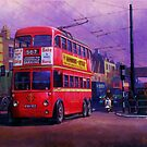 London trolleybus by Mike Jeffries