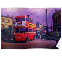 London trolleybus Poster