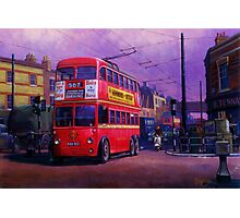 London trolleybus Photographic Print