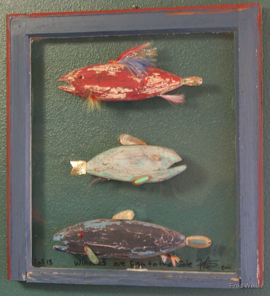 "Windows are Fish to the Sole 1 of 13.  32"" x 24"" (SOLD) by Fred Weiler"