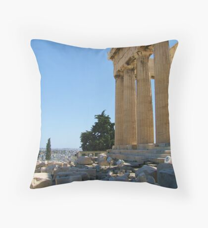 View of the Athens from the Acropolis Throw Pillow