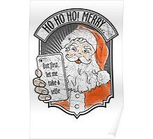 Santa Selfie Poster