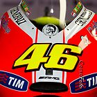 Front of Rossi&#x27;s bike iPhone case by corsefoto