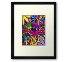 Psychedelic Octopus Framed Print