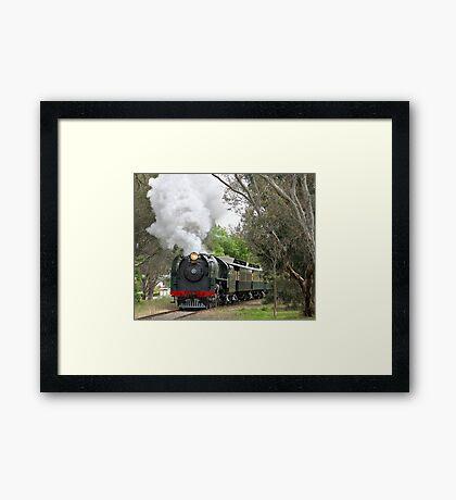 621 Steaming through Mount Barker Framed Print