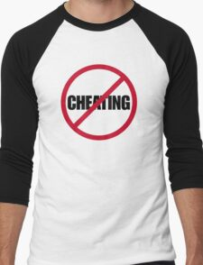 No Cheating Men's Baseball ¾ T-Shirt