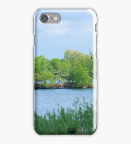 On a Small Island in a Small Pond in a Big World  iPhone Case/Skin